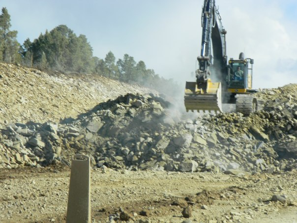 Seep Ridge Road Construction. Upgrading a dirt road to a four lane, high speed, trucking route.