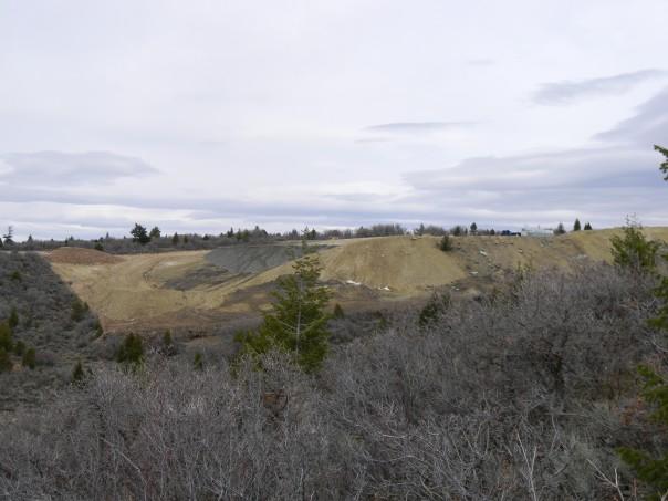 US Oil Sands test pit at PR Springs