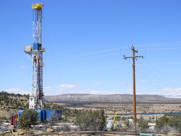 Fracking Rig outside of Vernal