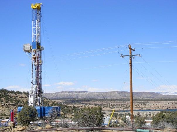 Fracking Rig outside of Vernal