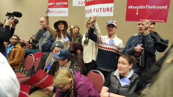 Keep It In The Ground protest in Salt Lake City 2/16/16